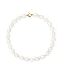 0.5cm white freshwater pearl bracelet