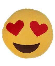 Heart Eyes emoji cushion