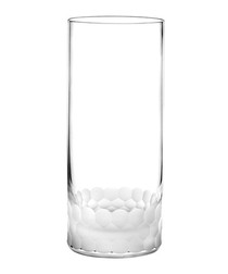 4pc Droplet frosted hiball glasses