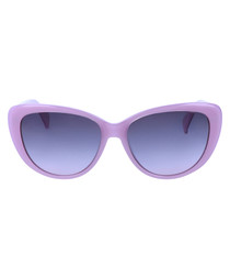 Shiny violet cat eye sunglasses