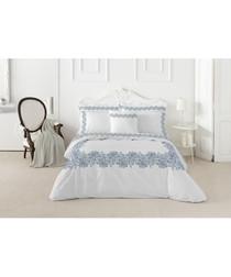 Leire white pure cotton king duvet set