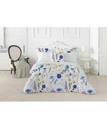 Sapphire white cotton king duvet set