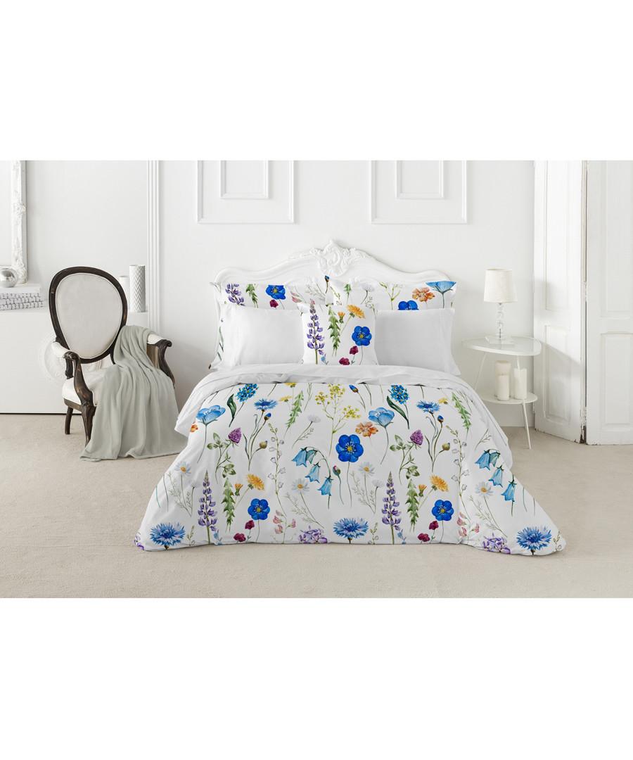 Sapphire single white cotton duvet set Sale - pure elegance