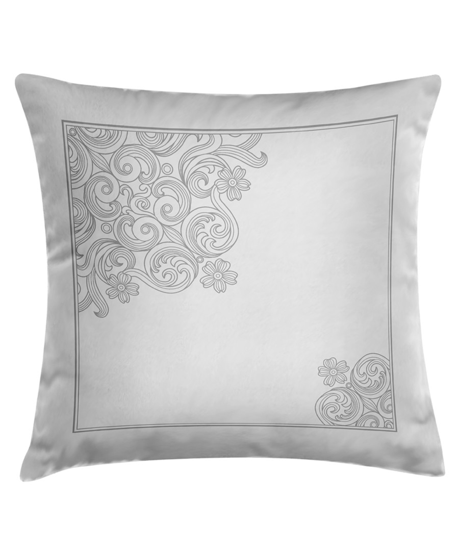 Sofia ash cotton brocade cushion 50cm Sale - pure elegance