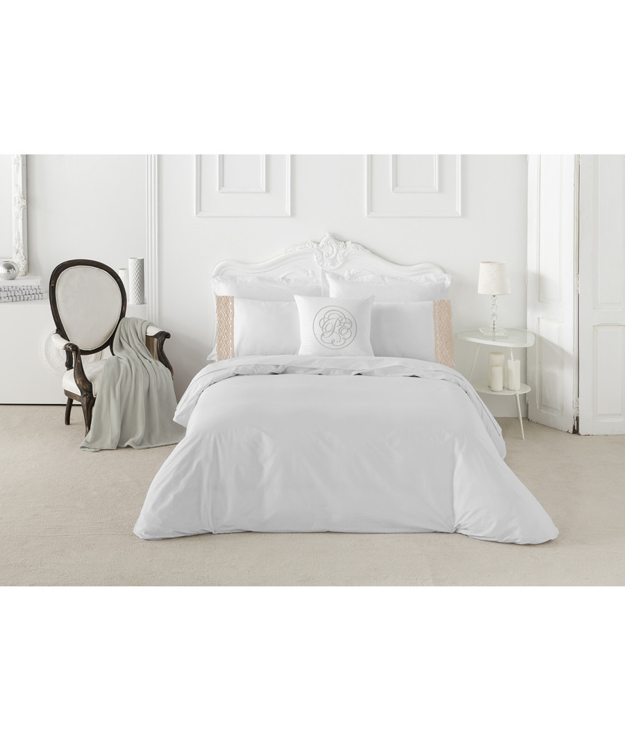 Mariola king white cotton duvet set Sale - pure elegance
