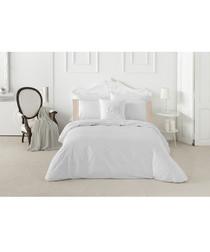 Mariola white cotton king duvet set