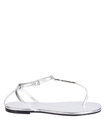 Nu Pied silver leather sandals