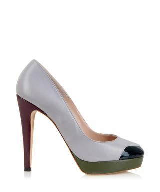 1e15097374e Mayfair grey leather platform heels Sale - Yull Sale