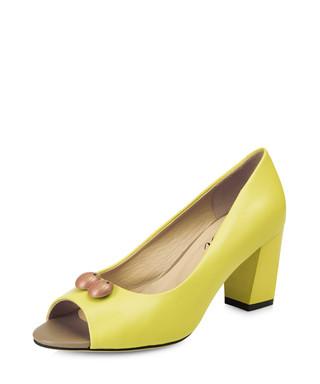 dfa0e68d2ad Westbourne lemon leather peep-toe heels Sale - Yull Sale