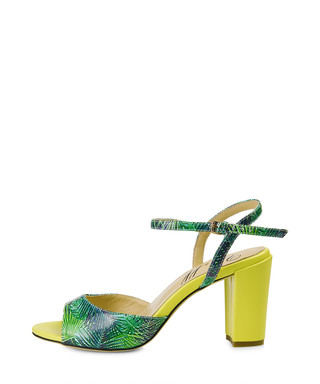 0884cfee587 Margate green   yellow leather heels Sale - Yull Sale