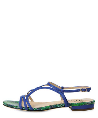 9b1b4b6e59f Tenby blue   green leather sandals Sale - Yull Sale
