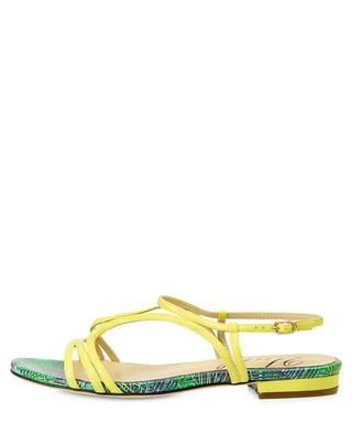 1d9727459a2 Tenby lemon   green leather sandals Sale - Yull Sale
