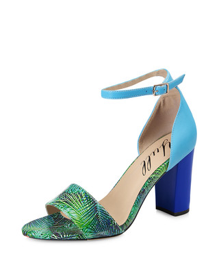 b645c332a16 Harrogate blue   green leather heels Sale - Yull Sale