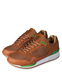 Easyrun brown & green sneakers