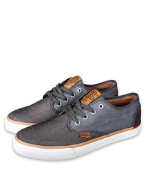 Nice Mix grey & wine canvas sneakers