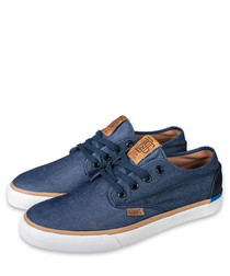 Nice Mix blue & navy canvas sneakers