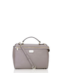 The Orchid brown leather grab bag