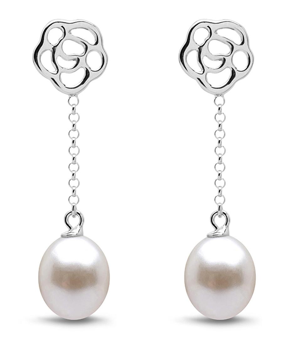 0.85cm pearl & sterling silver earrings Sale - Windsor Pearls
