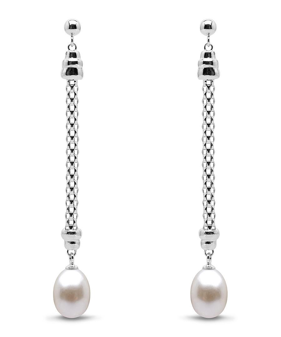 0.8cm sterling silver & pearl earrings Sale - Windsor Pearls