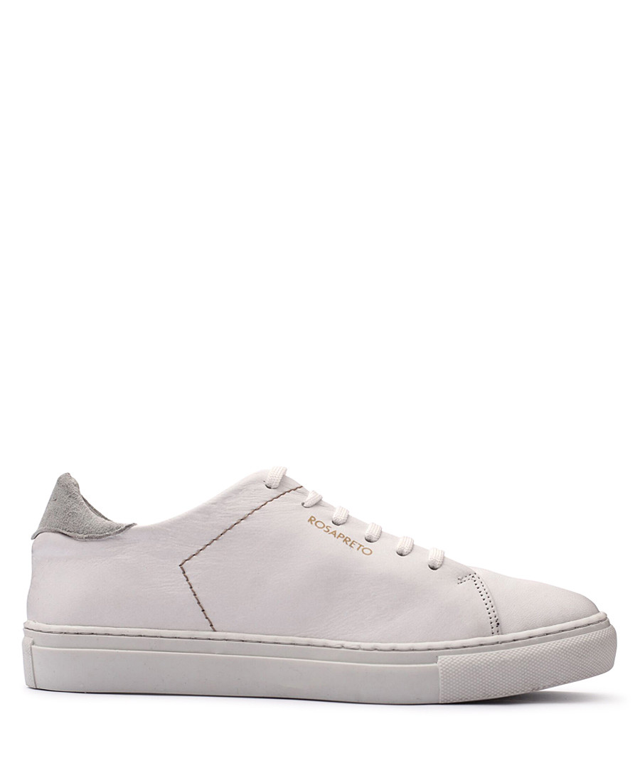 Women's White leather logo sneakers Sale - Rosapreto