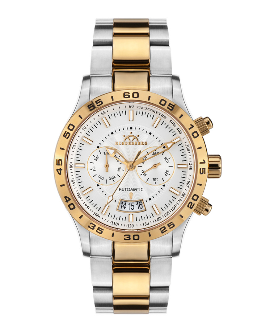Air Tracer silver & gold-tone link watch Sale - hindenberg