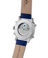 Skyray blue & silver-tone leather watch Sale - hindenberg Sale