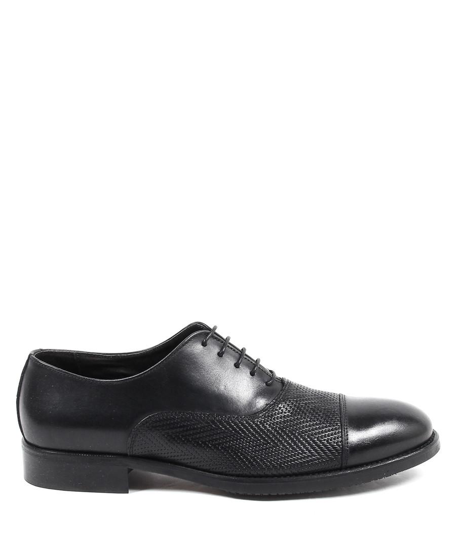 Men's black leather lace-up shoes Sale - versace 1969 abbigliamento sportivo
