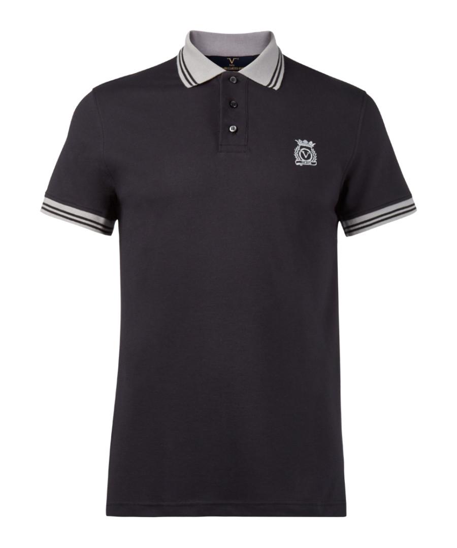 Dark grey pure cotton polo shirt Sale - V ITALIA BY VERSACE 1969 ABBIGLIAMENTO SPORTIVO SRL MILANO ITALIA