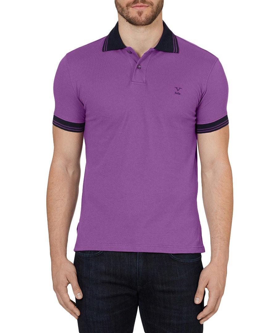 Fuchsia pure cotton polo shirt Sale - VERSACE 1969 ABBIGLIAMENTO SPORTIVO SRL