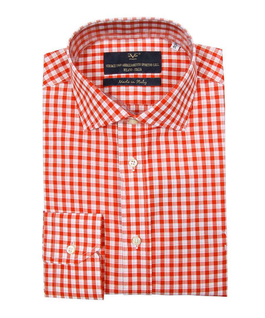 Red pure cotton checked shirt Sale - V ITALIA BY VERSACE 1969 ABBIGLIAMENTO SPORTIVO SRL MILANO ITALIA