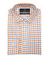 Blue & red pure cotton check shirt Sale - VERSACE 1969 ABBIGLIAMENTO SPORTIVO SRL Sale