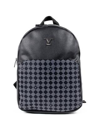 32e09c800492 Black   grey leather monogram backpack Sale - VERSACE 1969 ABBIGLIAMENTO  SPORTIVO SRL MILANO ITALIA Sale
