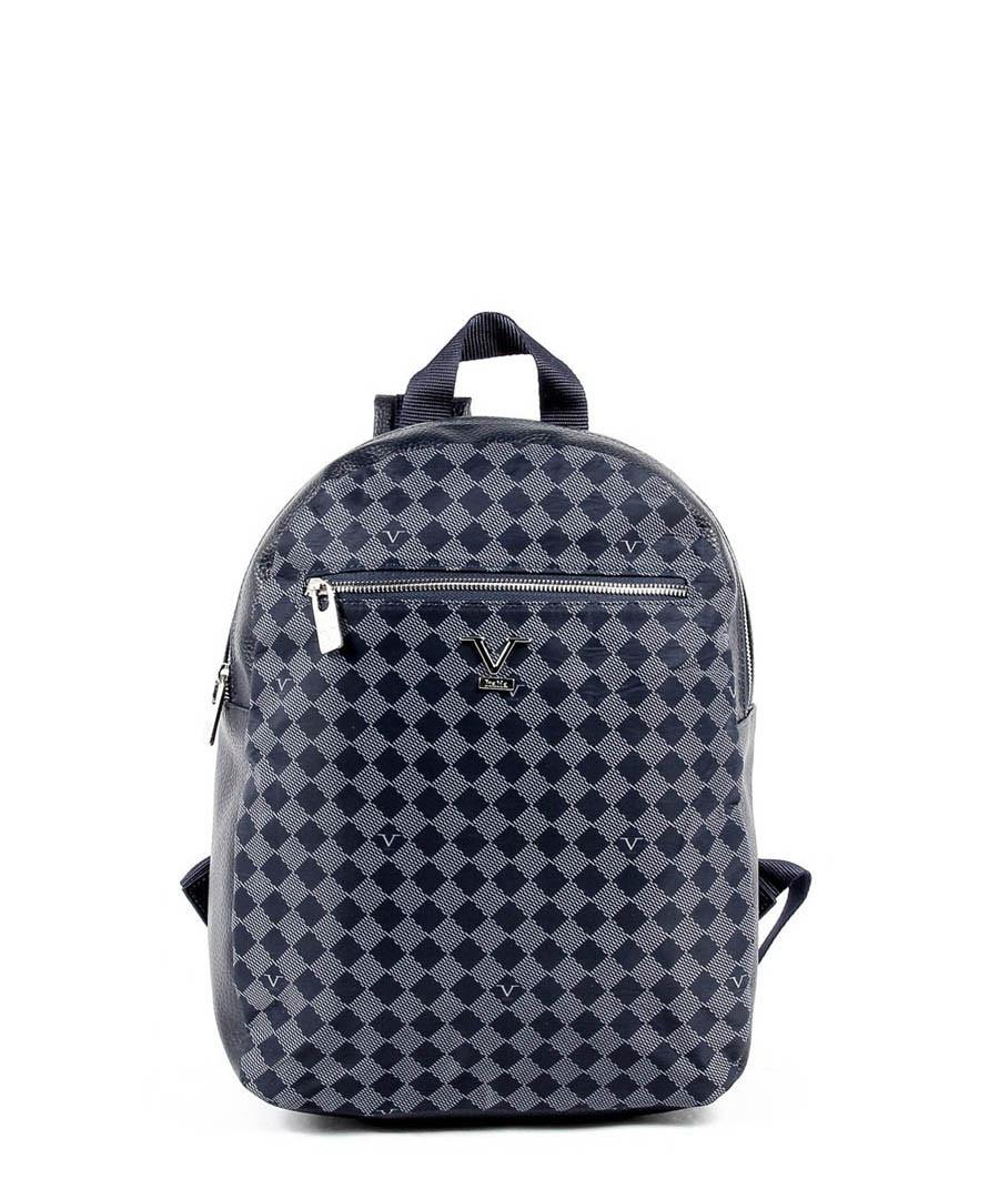 Navy & grey patterned backpack Sale - v italia by versace 1969 abbigliamento sportivo srl milano italia