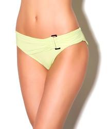 Yellow side buckle bikini briefs