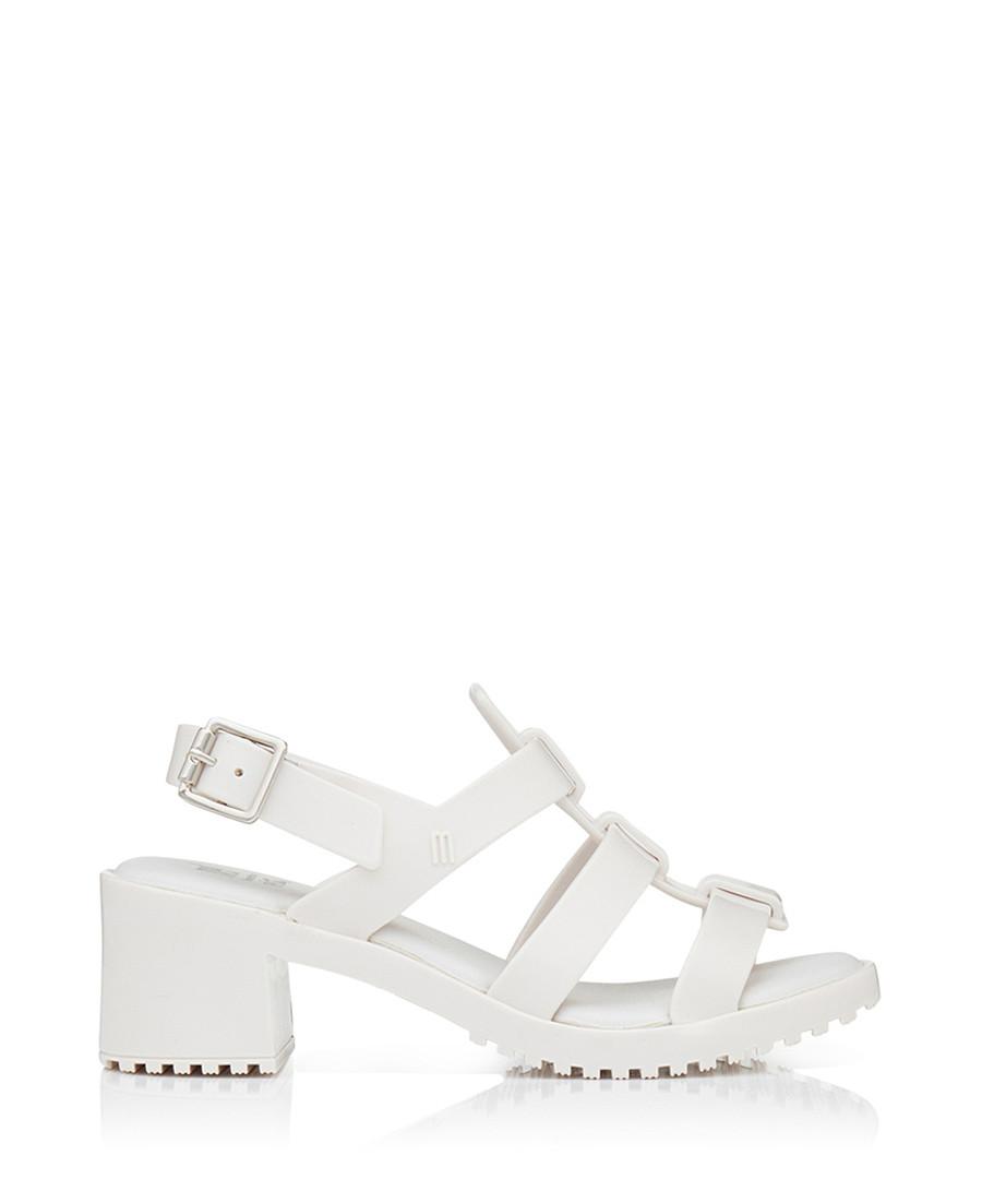 Girl's Flox High white heeled sandals Sale - melissa