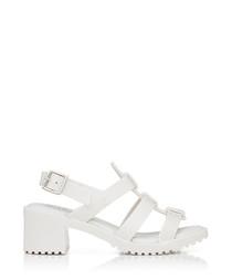 Girl's Flox High white heeled sandals