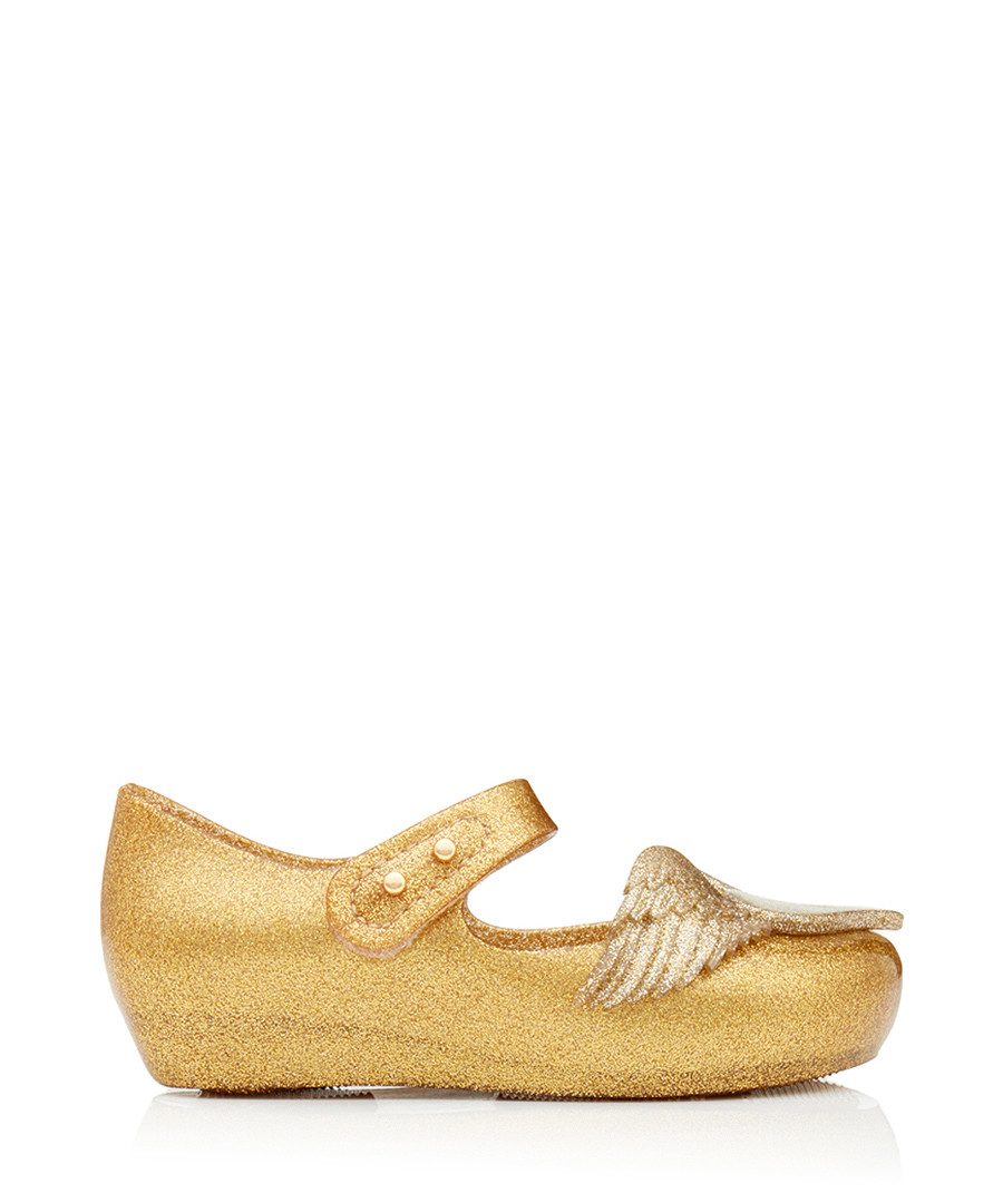 Girl's Ultragirl Cherub gold-tone shoes Sale - MELISSA VIVIENNE WESTWOOD