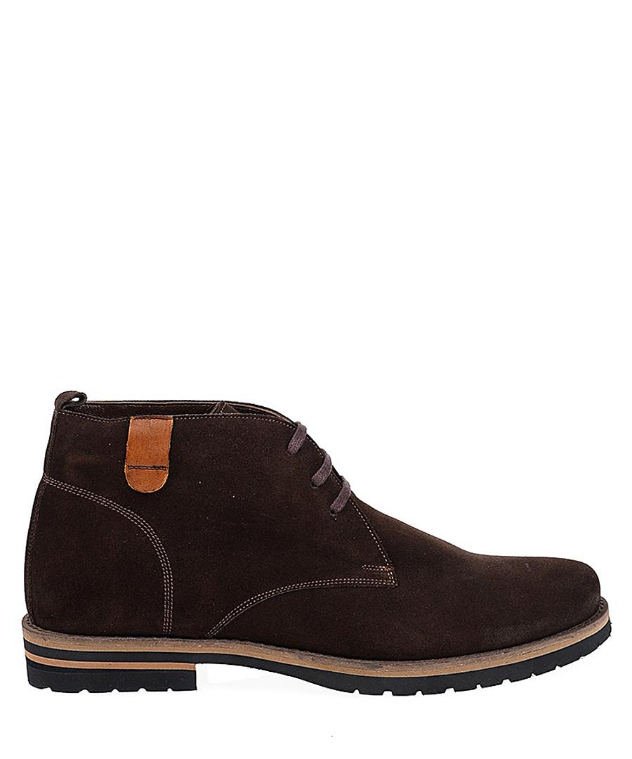 Dark brown suede desert boots Sale - Baqietto