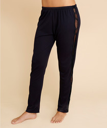 Estelle navy blue lace pyjama trousers