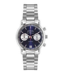 Sports Avenger silver-tone steel watch