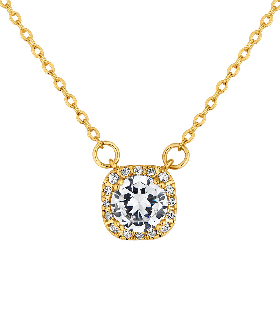 Affinity gold-plated crystal pendant Sale - diamond style
