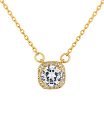 Affinity gold-plated crystal pendant
