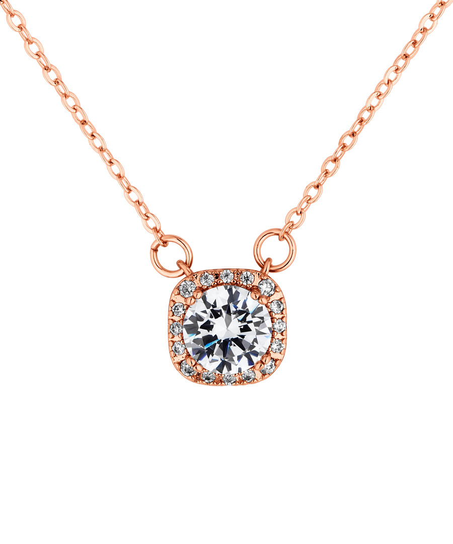Affinity rose gold-plated crystal pendant Sale - diamond style