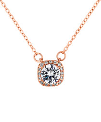 Affinity rose gold-plated crystal pendant
