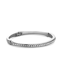 Crystal 14ct white gold-plated bangle