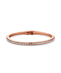 Crystal 14ct rose gold-plated bangle