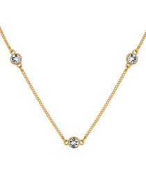 Dew drop 14ct gold-plated necklace