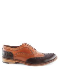 Penryn tan & brown leather brogues
