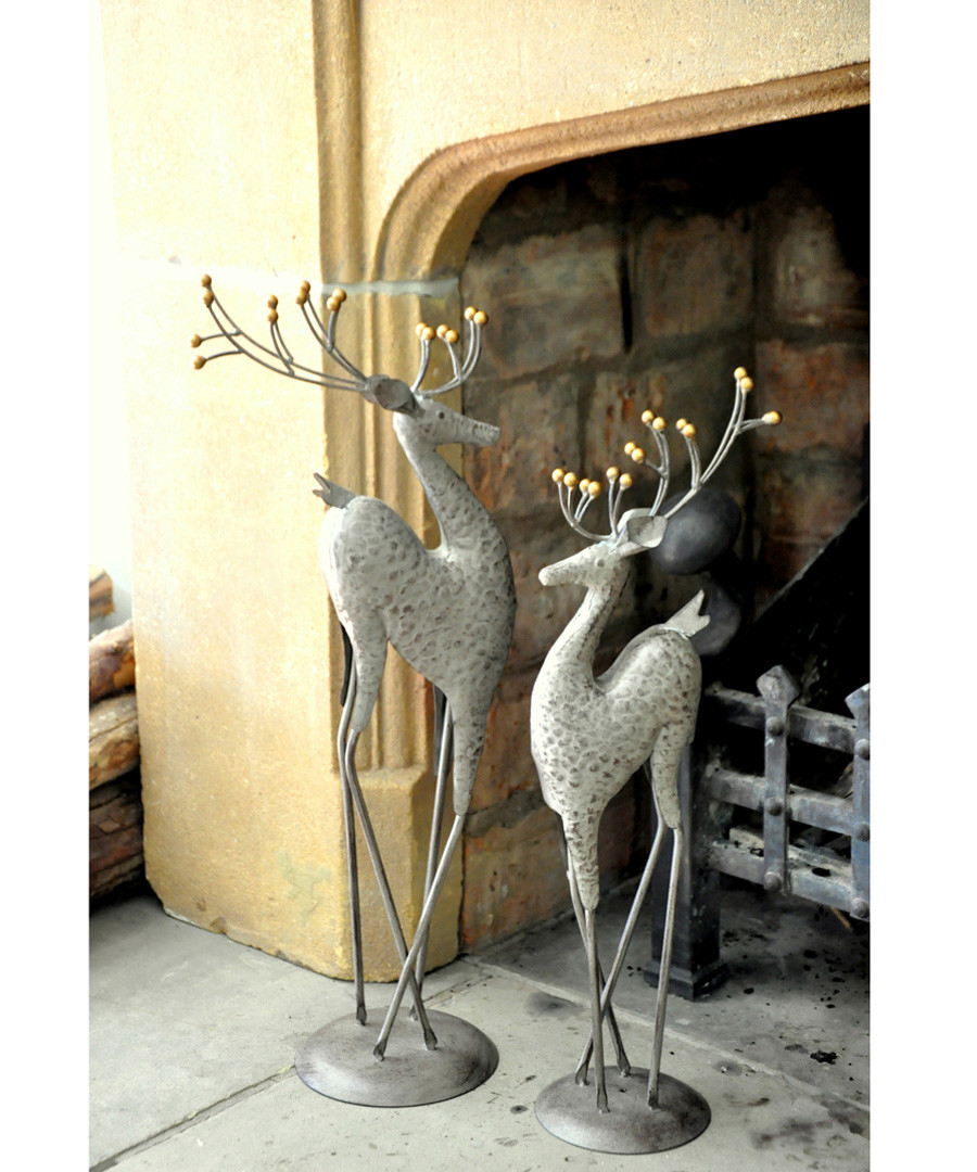 Large steel deer garden figure Sale - adobe