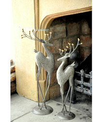 Small steel deer garden figure